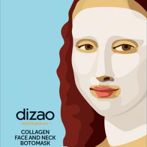 DIZAO NATURAL - Masterpieces ΒΟΤΟ Μάσκα Κολλαγόνου για Πρόσωπο & Λαιμό