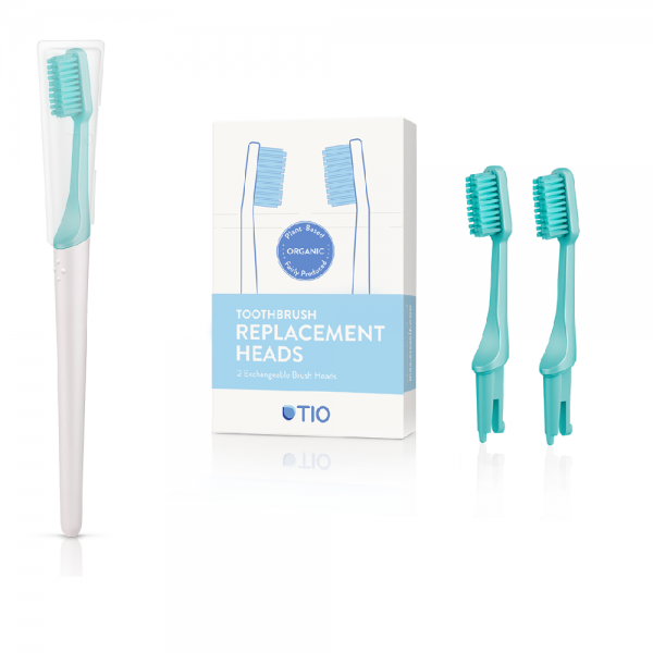 TIO Care - Πακέτο Οδοντόβουρτσα + Ανταλλακτικά Πράσινη Medium (Lagoon Medium)