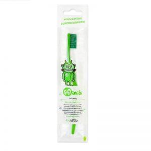 biobrush - Οικολογική παιδική οδοντόβουρτσα Πράσινη Απαλή (Green Soft)