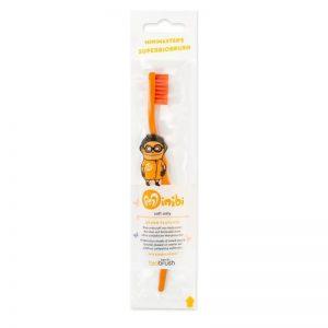 biobrush - Οικολογική παιδική οδοντόβουρτσα Πορτοκαλί Απαλή (Orange Soft)