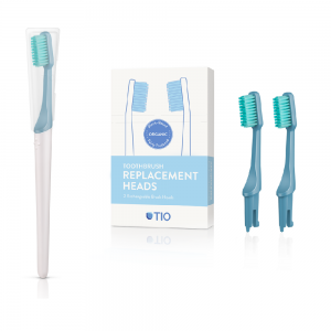 TIO Care - Πακέτο Οδοντόβουρτσα + Ανταλλακτικά Μπλε Medium (Glacier Medium)